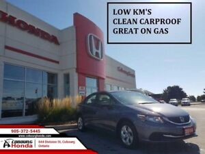 2014 Honda Civic Sedan LX  LOW KM'S CLEAN CARPROOF
