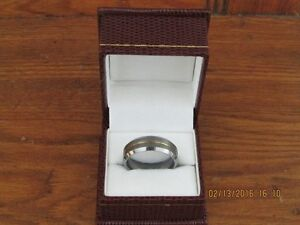 *Men's Tungsten Carbide Ring* Gold Center Inlay *VERY NICE*