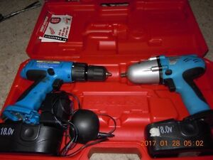 Cordless Drill and Cordless Impact wrench 3/8 dr