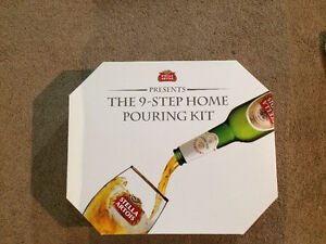 Stella Artois Beer Pouring Kit/Keith Coasters/Bud Light Coozies