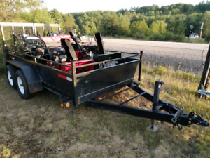 Package- 6 snow blowers & 2016 tandem 10000 pound trailer