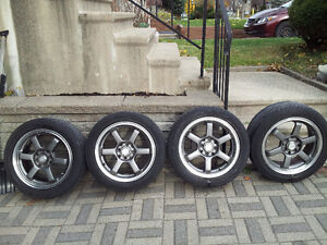 4 summer tires on mag+kit  size 195 50 R15