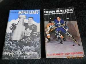 Maple Leafs Information Books '62-'63 & '63-'64