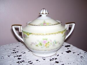 Noritake Handpainted Sugar Bowl