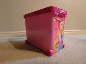 Barbie Store It All Doll and Accessory Rolling Bin