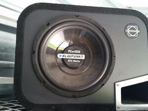 Subwoofer BLAUPUNKT 600W avec ampli Sony Xplod XM-1S
