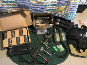 Paintball mega pack! Highly modified Tippmann A5 and gear