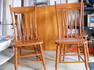 Antique Solid wood Maple Table and chair set