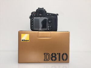 Gently Used - Nikon D810 Body with Box and Accessories