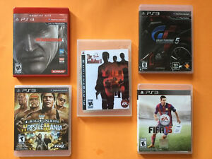 PS3 JEUX:GT 5-GODFATHER-WRESTLE MANIA-FIFA 15..