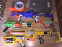 NERF GUNS X 5