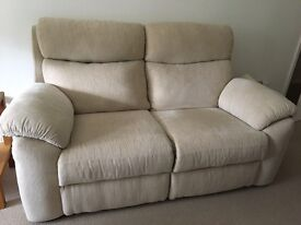 2 seater light beige sofa - excellent condition