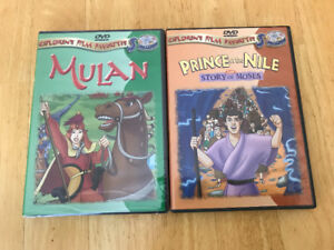 Mulan and Prince of Nile children dvd