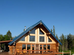 Log home Acreage with rental suite near Redwater