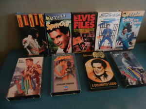 Elvis Presley VHS Movies Great Condition lot of 9