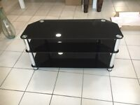 Black tempered glass corner unit and entertainment units from £35