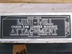 Chain saw Mini-mill