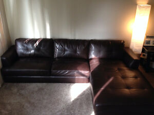 Faux Leather sectional *GREAT CONDITION*