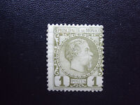 Monaco #1, A1 Mint  1 cent, olive green
