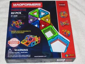MAGFORMERS (62PC) - MAGNETIC CONSTRUCTION SET - BRANDNEW!