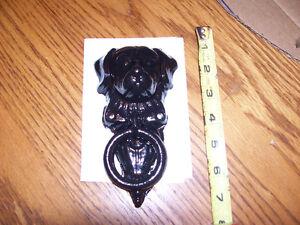 Vintage Cast Iron Dog Door Knocker