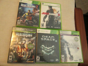 Dead space/Just cause/deadrisingXbox 360