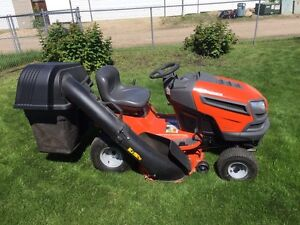 Husqvarna riding lawnmower and snow blower