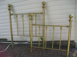 Single brass Headboard and Footboard