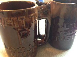1970's ceramic barware went to pee mug