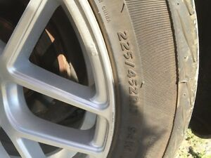 5x112 RTX rims and almost new tires Kingston Kingston Area image 2