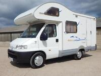 Swift SUNDANCE 530S, 2002, 4 Berth, Fiat 1.9TDI, End Kitchen, Over Cab Bed!