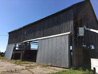 BARN DEMOLITION , FULLY COVERED BY INSURANCE