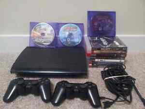 250GB PS3 Superslim, 11 games, 2 controllers