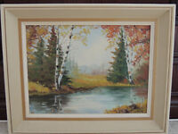 Beautiful oil painting listed artist