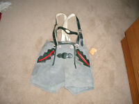 Boys Bavarian Shorts with Suspenders made of Suede - Brand New