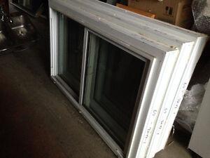 8 White Vinyl Double Side Sliders & 5 Fixed Windows