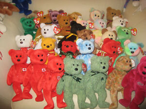 I have tons of MINT retired TY beanies babies  & TY Beanie bears
