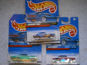 Hot Wheels 1/64 vintage car set