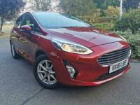 FORD FIESTA T EcoBoost 100 Auto Zetec 2018 Petrol Automatic in Red