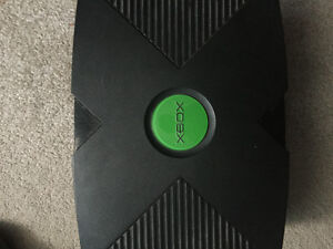 Original Xbox with 3 games and 2 controllers wired