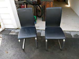 STRUCTUBE LEATHER CHAIRS