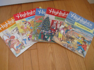"5 ""HIGHLIGHTS for CHILDREN"" TEACHING MAG'S HOME SCHOOLING AIDS"