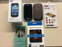 SAMSUNG S3 MINI KOODO-TELUS-PUBLIC MOBILE- WITH EXTRAS