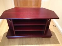 Tv stand unit in dark wood in excellent condition - CAN DELIVER