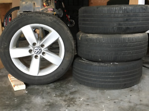 4 16in VW RIMS with Michelin Premier Tires