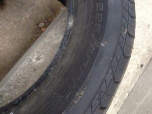225-60-16 two all season tires only 10.00 Kitchener / Waterloo Kitchener Area image 1