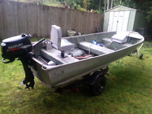 Sears Aluminum 14ft with trailers and motors