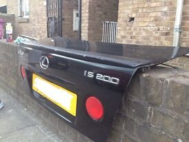 Lexus is200 black 2o2 bootlid boot tailgate complete + spoiler 98-05 breaking spares can post is200