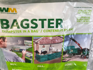 WM Bagster - construction waste 3 Cubic Yards