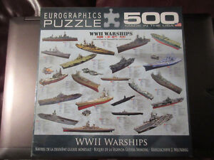 Eurographics 500 Piece puzzle - NEW!!  WWII Warships